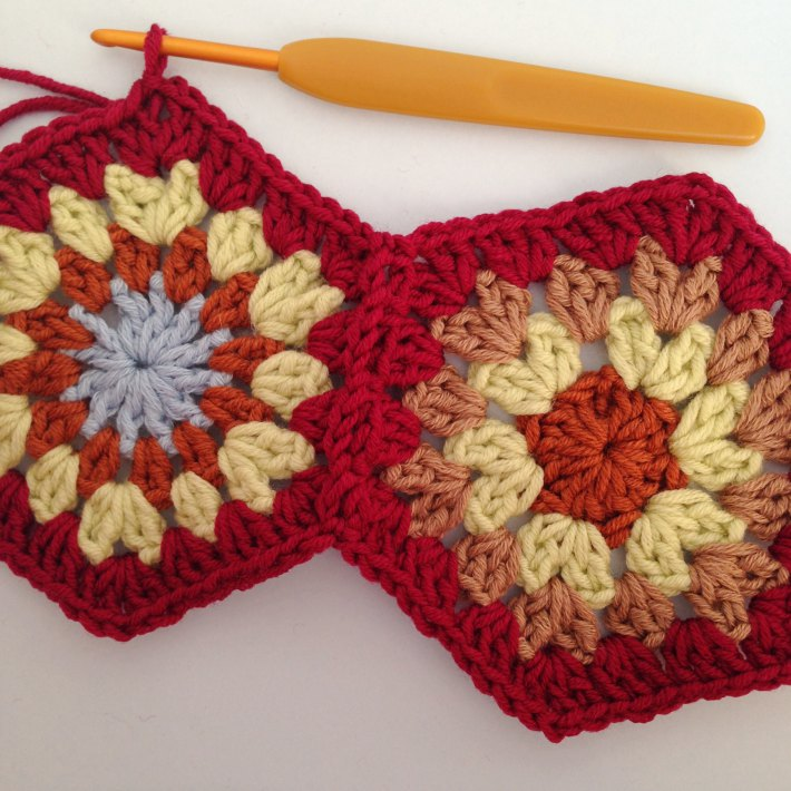 Crochet join as you go Step 10