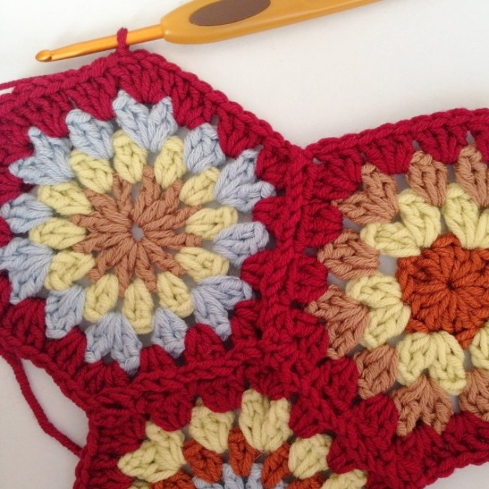 Crochet join as you go Step 21newer