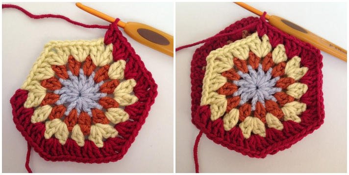 Crochet join as you go Step 4
