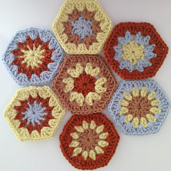 Crochet join as you go tutorial planning order of hexagons