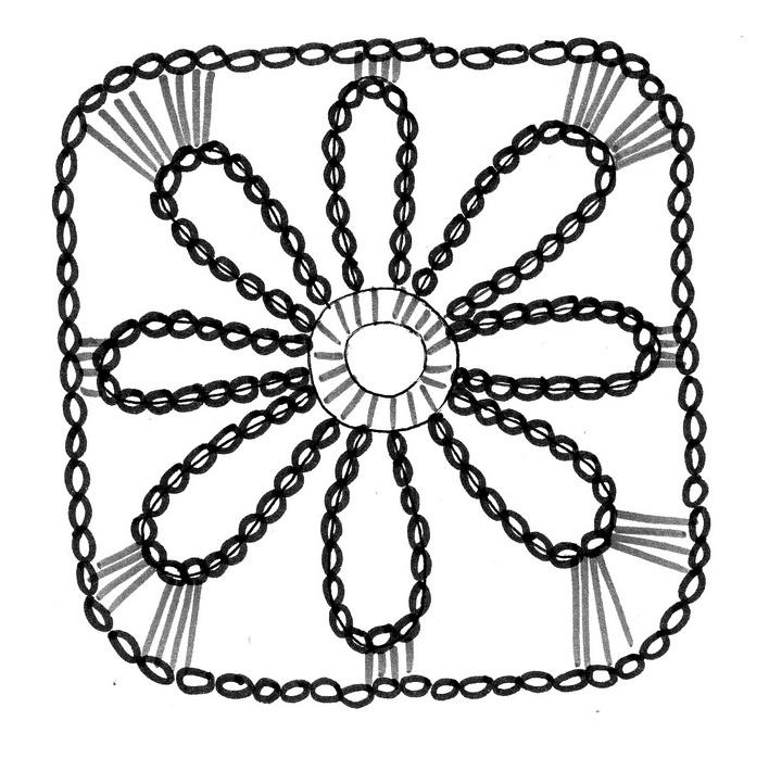 Crochet template