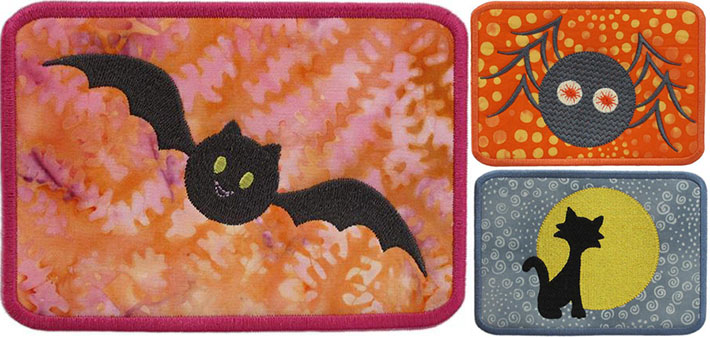 Halloween In the Hoop Mug Rugs