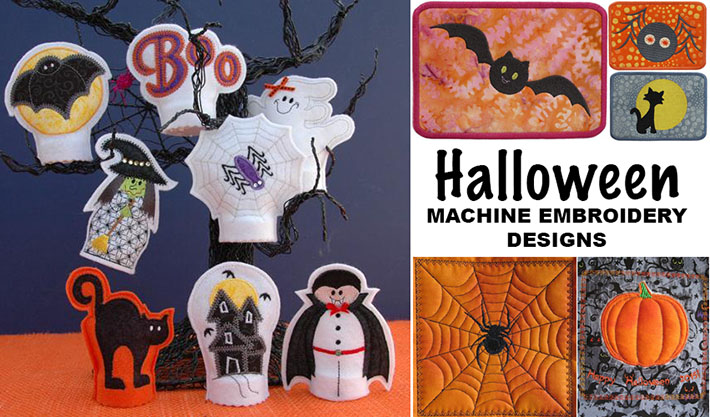 From applique to quilting and in-the-hoop projects, we have the best Halloween embroidery designs!