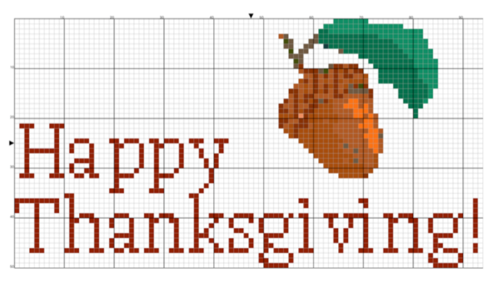 Happy Thanksgiving cross-stitch pattern