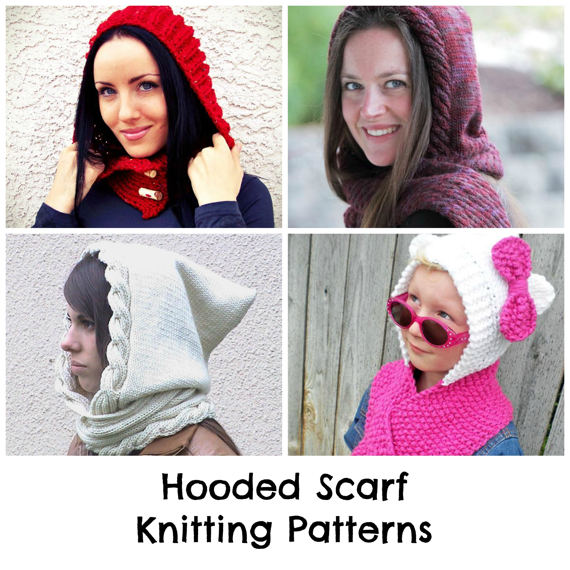 Hooded Scarf Knitting Patterns