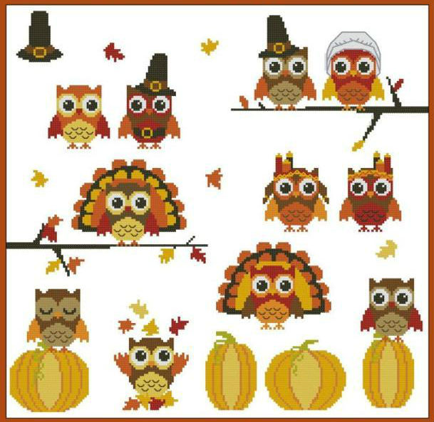 Thanksgiving Cross-Stitch Designs