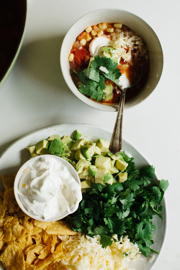 Simple and healthy tortilla soup