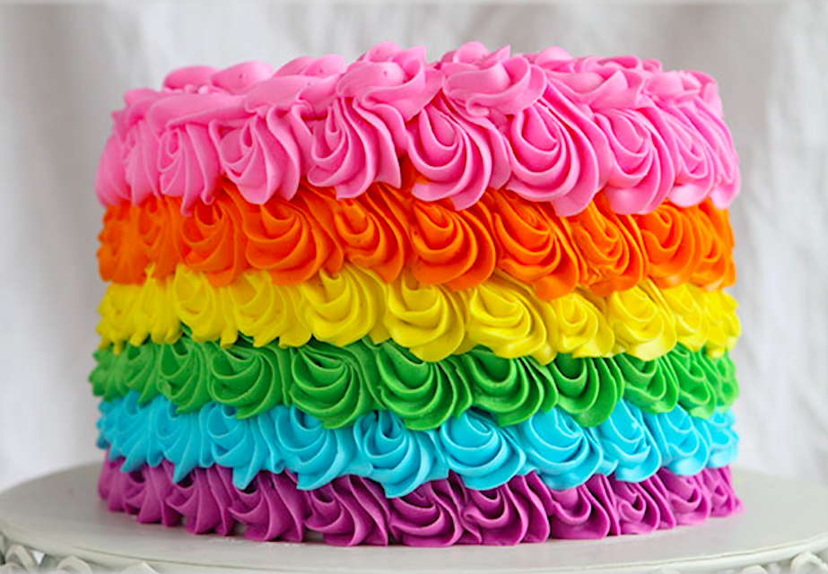 Rainbow Buttercream Cake by Bluprint Instructor Amanda Rettke