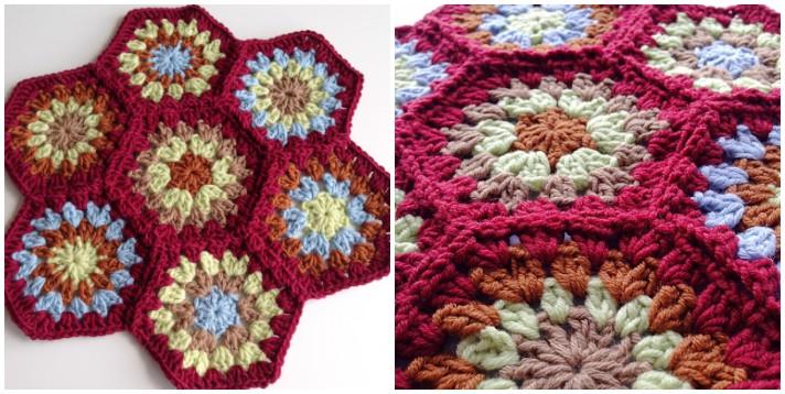 Join as you go crochet hexagon flower final