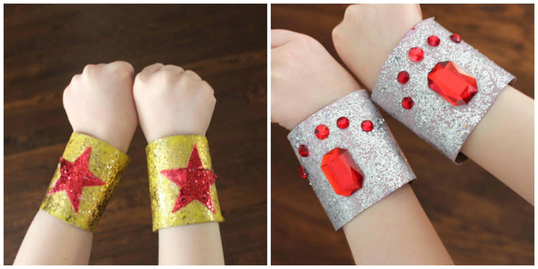Toilet Paper Roll Super Hero Bracelets
