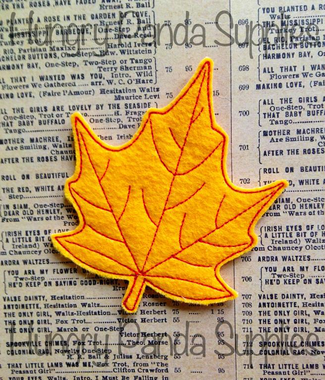 Leaf Feltie Embroidery Design