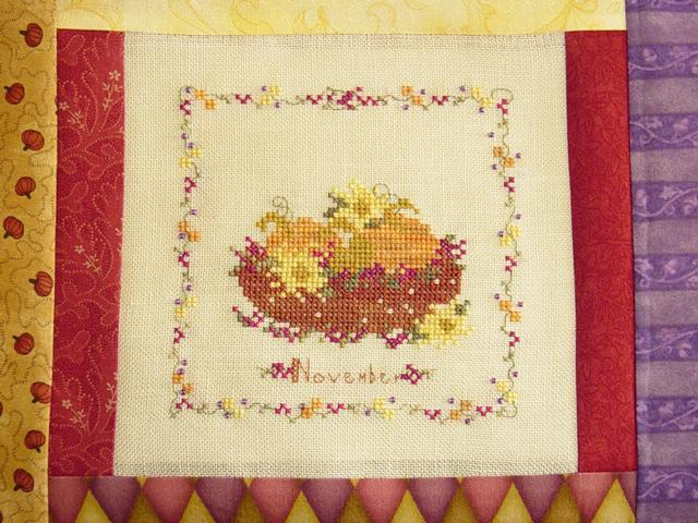 November Harvest Autumn Cross Stitch