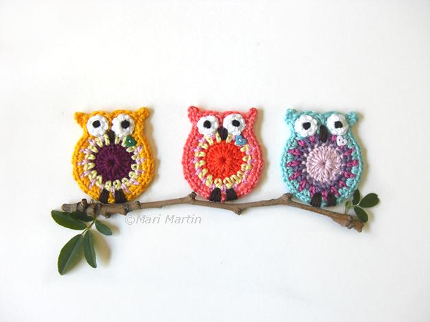 Owl Crochet Appliques