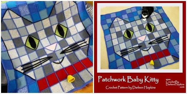 Patchwork crochet Patchwork baby kitty
