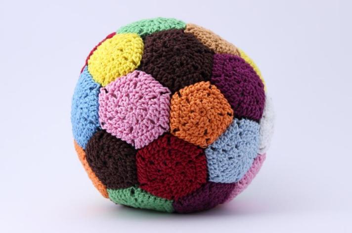 Patchwork crochet patchwork ball