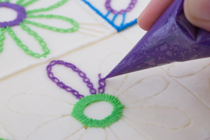 Pipe chain petals