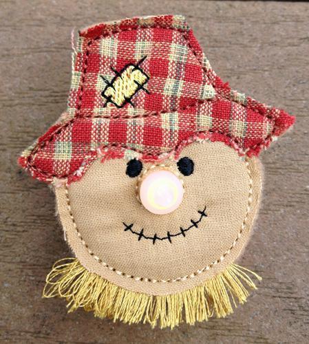 Scarecrow Flameless Tealight Pin