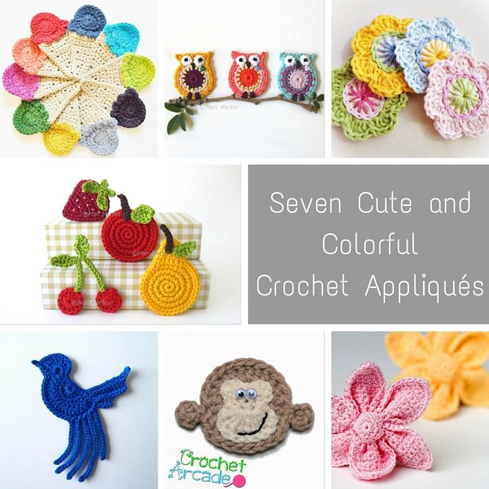 Seven Cute andColorful Crochet Appliques