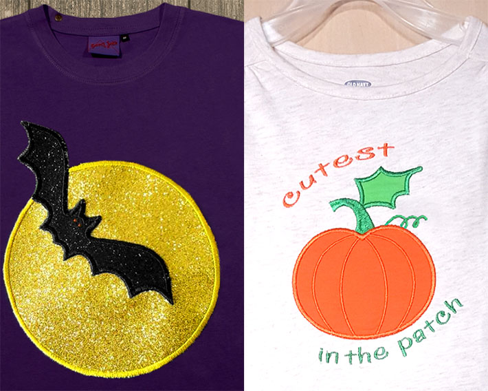 applique geek halloween designs