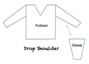 armhole shaping - drop shoulder