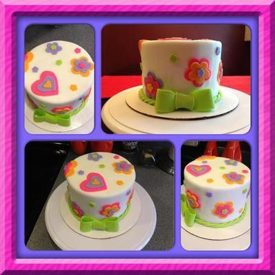 cake with fondant cutouts