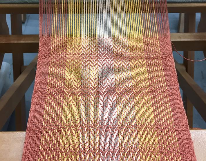 shaded twill on striped warp