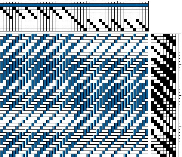 shaded twill blocks on 8 shafts