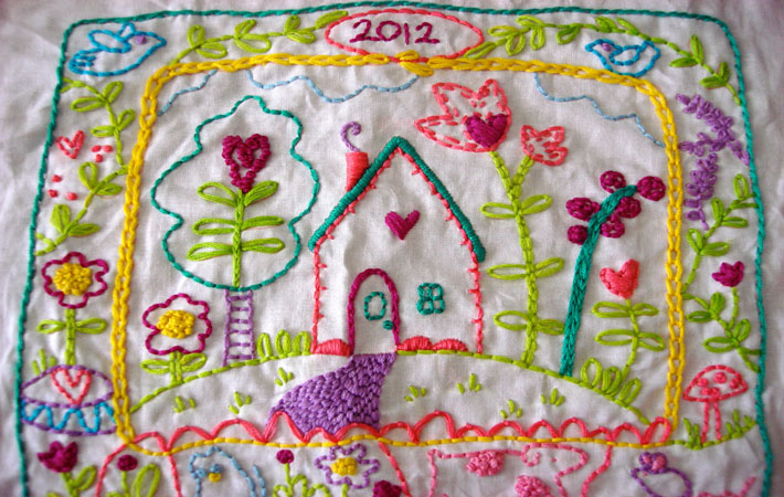 Chain Stitch Embroidery Sampler