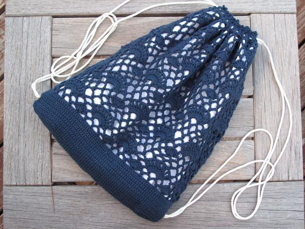 drawstring crochet backpack pattern