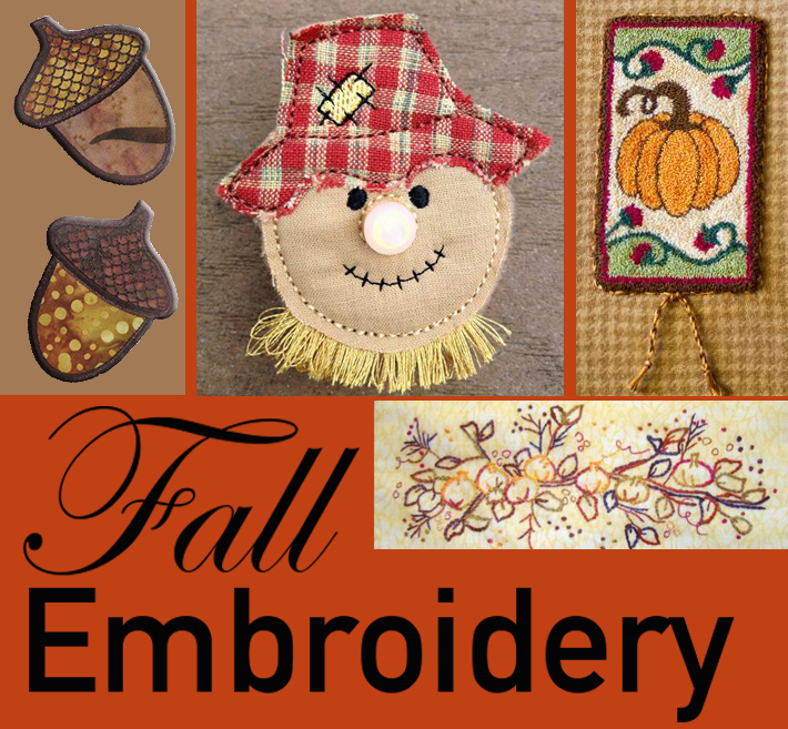 Fall embroidery patterns