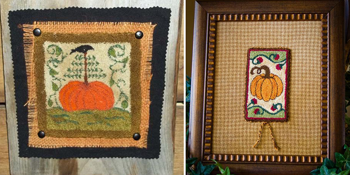 fall needle punch embroidery