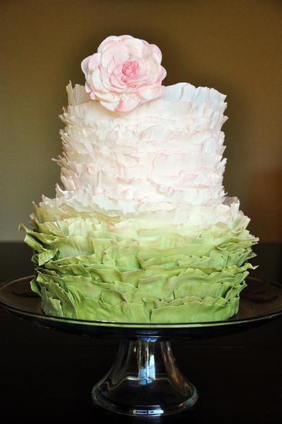 fondant frill cake