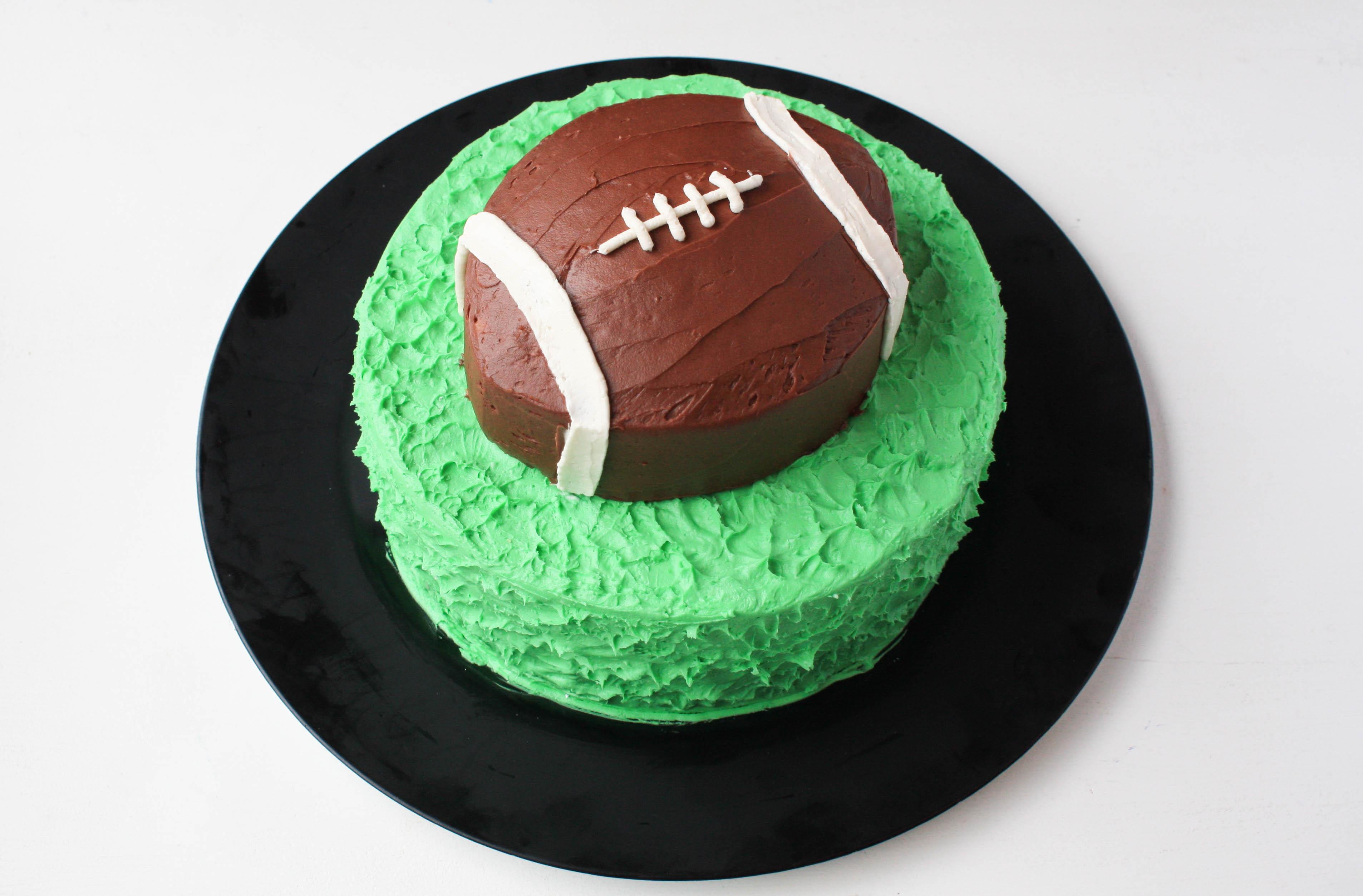 How To Make An Easy Football Cake   Erin Gardner   Bluprint