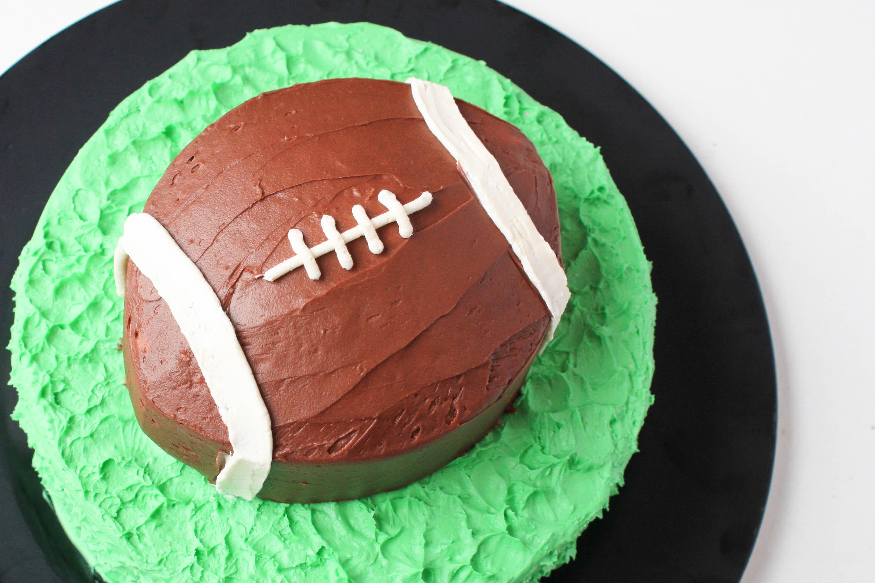Buttercream Football Cake