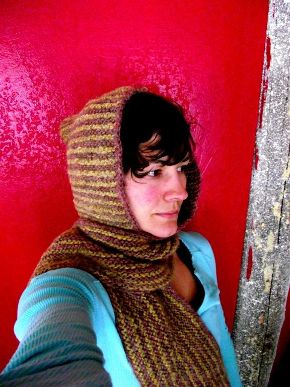 Hooded Scarf Knitting Pattern