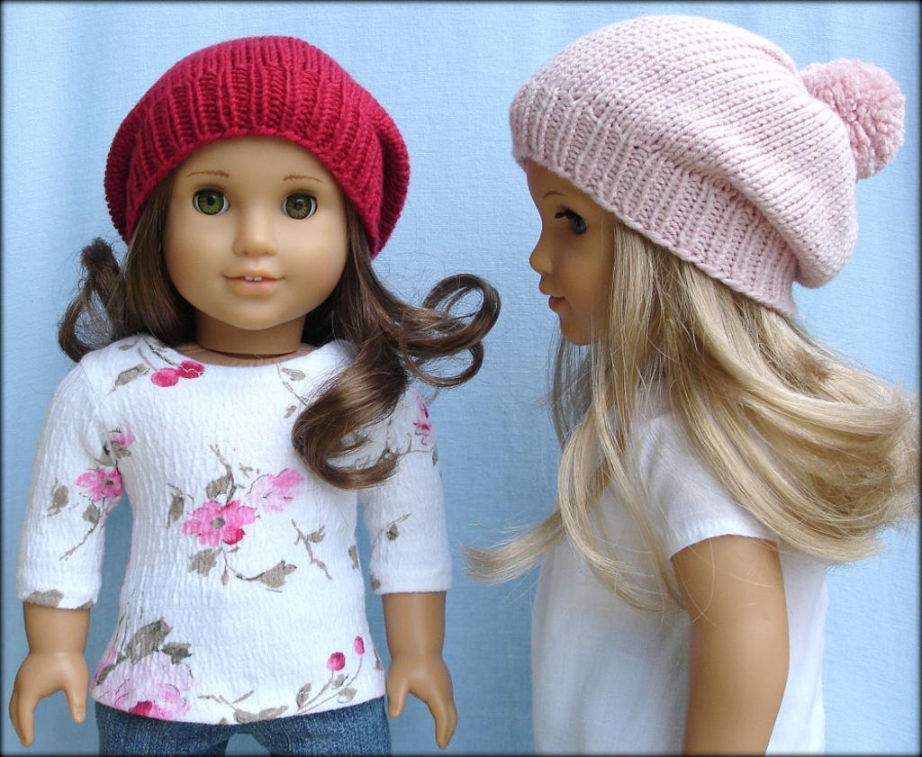 Lucy Hat for 18-Inch American Girl Dolls FREE Knitting Pattern