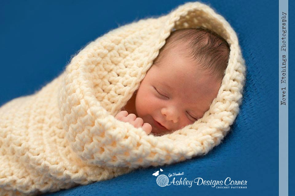Snuggle Bug Cocoon Baby Crochet Pattern