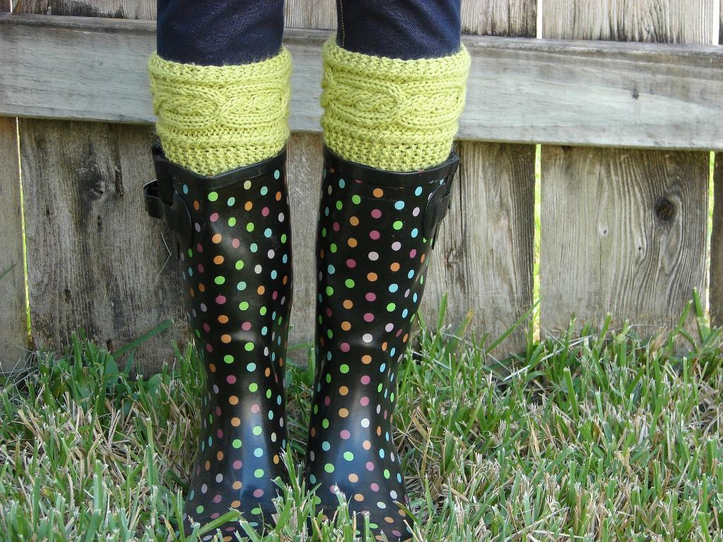 Cabled Boot Cuff Knitting Pattern