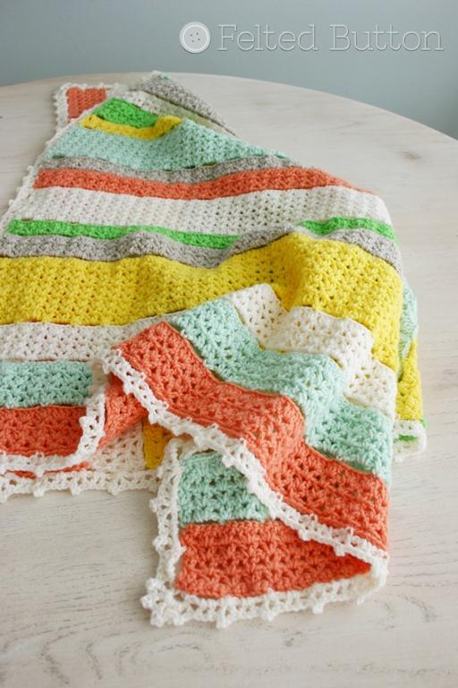 Citrus Stripe Blanket FREE Crochet Pattern