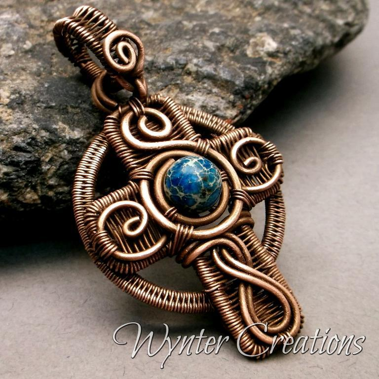 Celtic Cross Wire Work Pendant  Tutorial