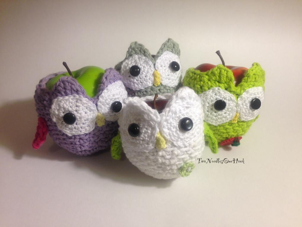 Crochet Owl Apple Cozy