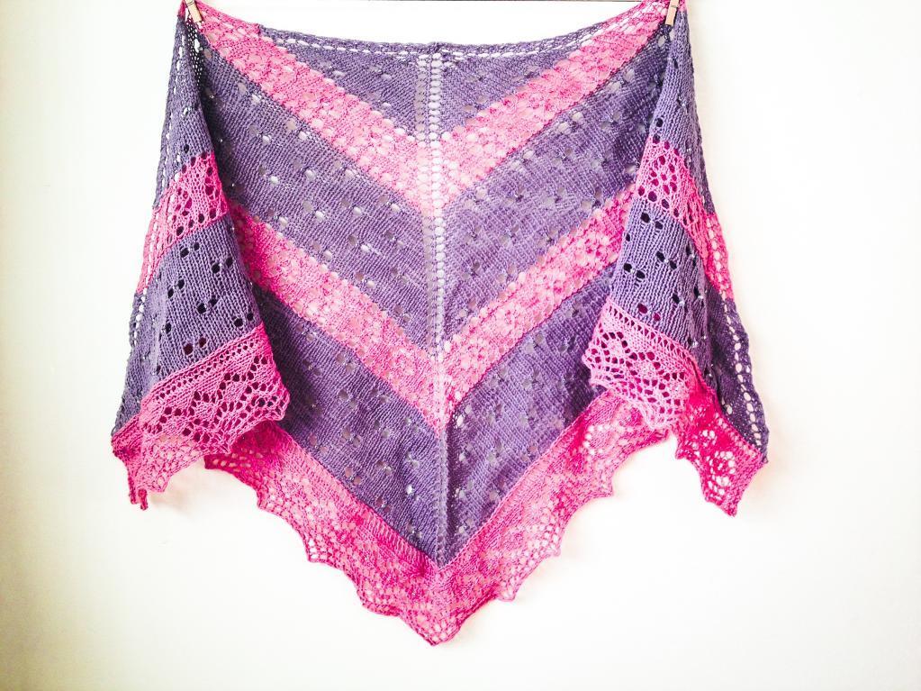 Raindrops and Roses FREE Shawl Knitting Pattern