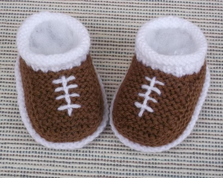 Knit Baby Football Shoes