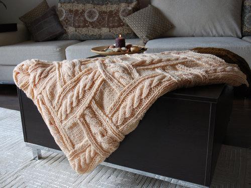 Patchwork Knitting Cozy Blanket Pattern