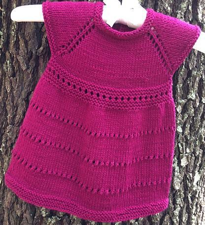Wee Susan Baby Dress FREE Knitting Pattern