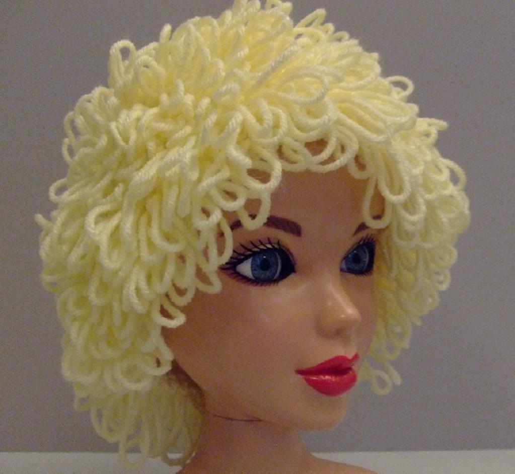 Curly Hair Crochet Wig Pattern
