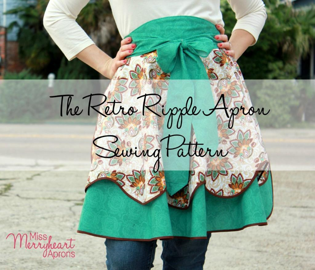 Retro Ripple Apron Sewing Pattern