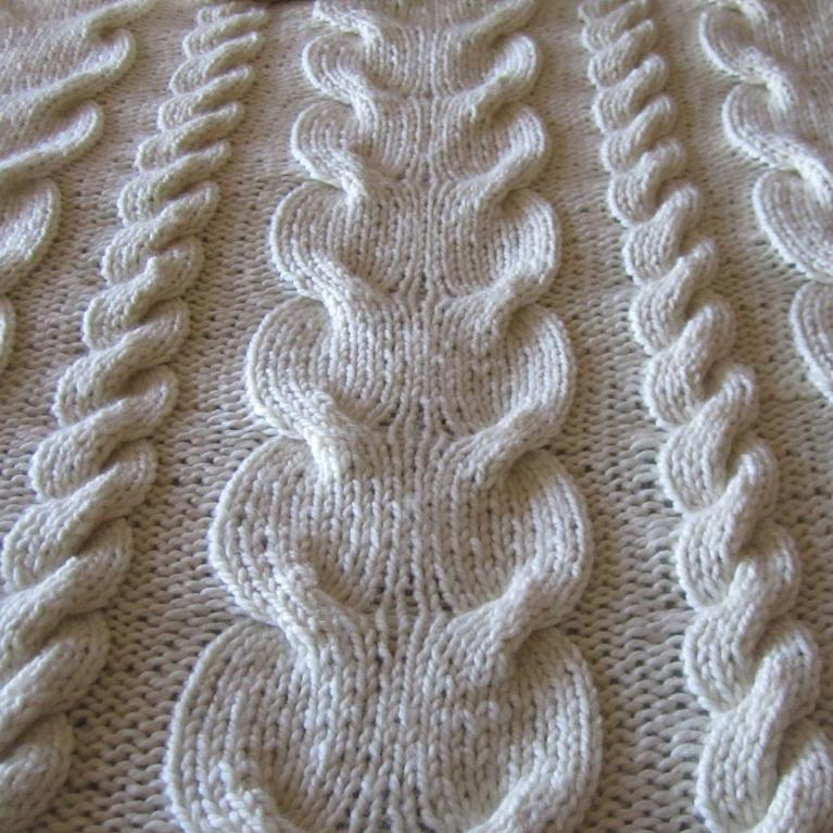 Super Chunky Cable Throw Knitting Pattern