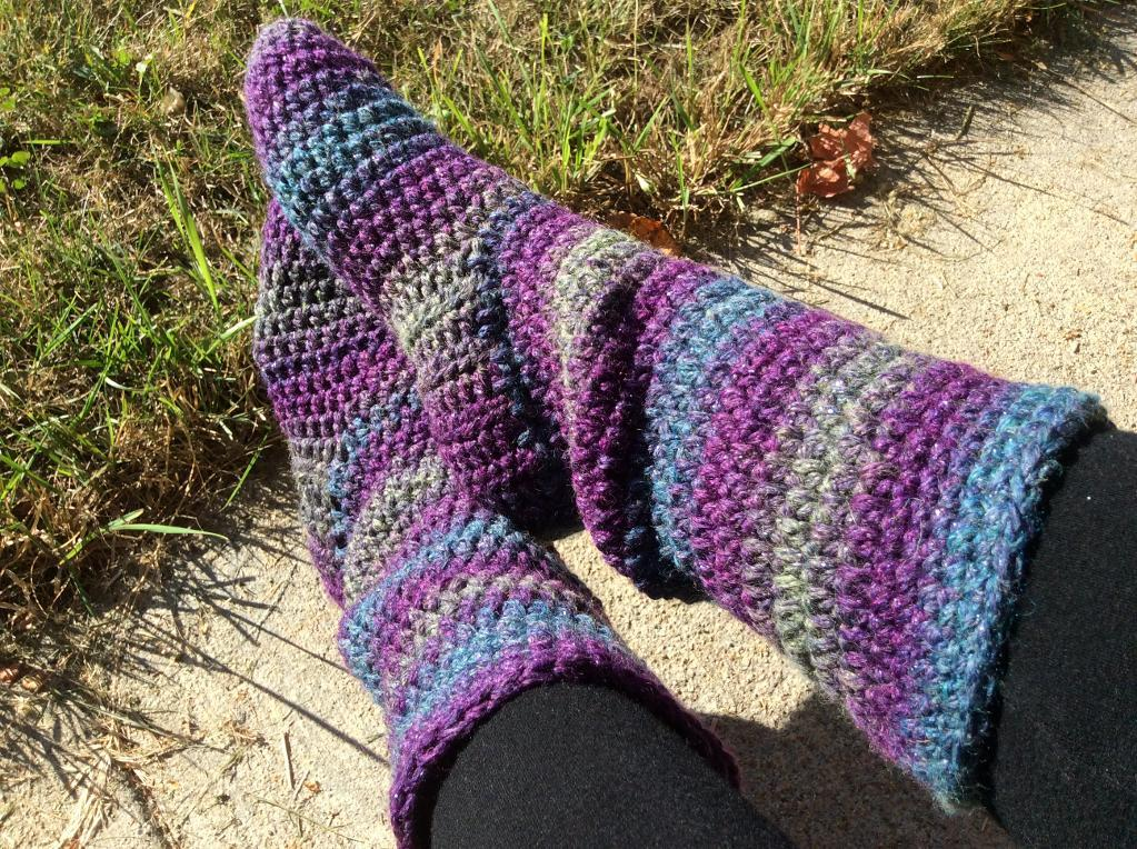 Basic Slipper Boots for Women FREE Crochet Pattern
