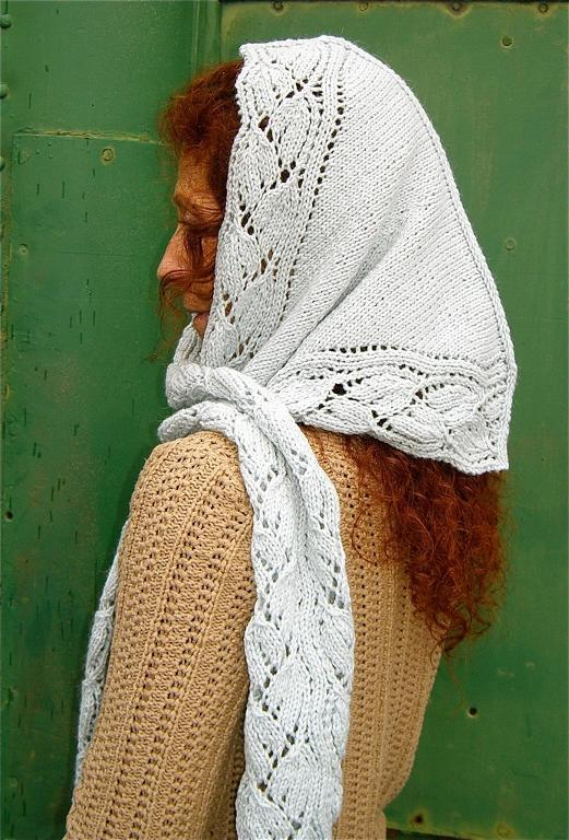 Lacy Hooded Scarf Knitting Pattern
